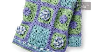 Crochet Flower Box Garden Afghan