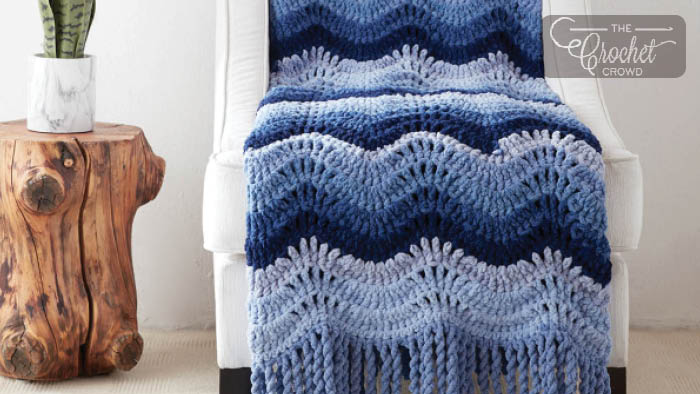 Crochet High Tide Blanket + Tutorial | The Crochet Crowd