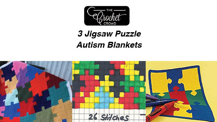 Crochet Autism Awareness Blankets