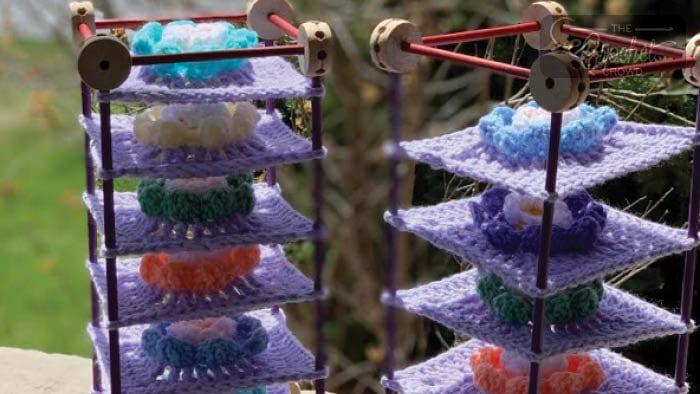 Custom Tinker Toy Blocking by Lauren Wolf