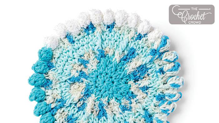 Crochet Scrubbing Dishcloth + Tutorial   The Crochet Crowd