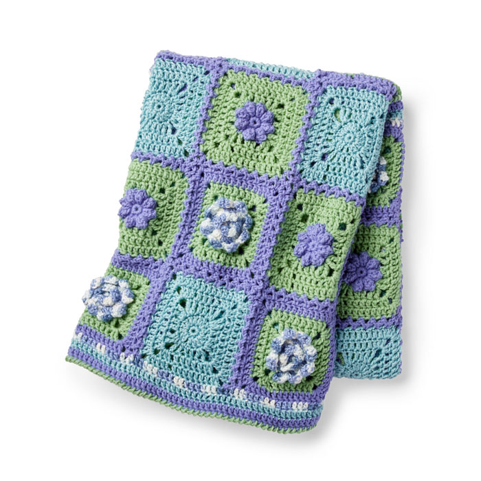 The Crochet Spring Garden Afghan Pattern Crochet Along