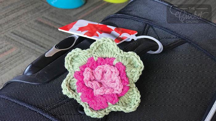 Crochet Luggage Bag Tag Pattern + Tutorial