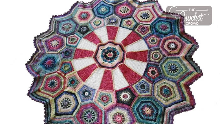 Crochet Carousel Afghan Pattern