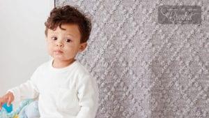 Crochet Diamond Lattice Baby Blanket