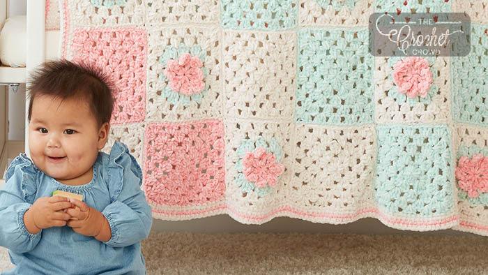 Crochet Flower Patch Granny Blanket Pattern