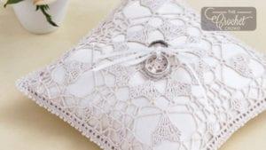 Crochet Heart's Desire Ring Bearer Pillow