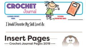Crochet Journal Insert Pages