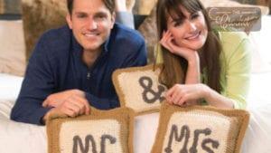 Crochet Mr and Mrs Pillows