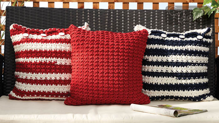 Crochet Nautical Pillows