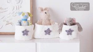 Crochet Nursery Storage Baskets