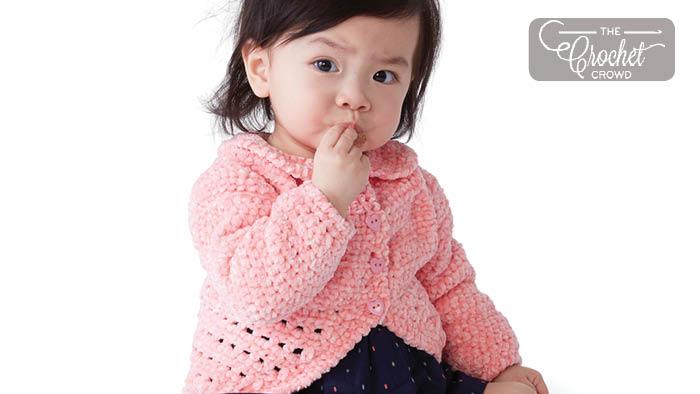 Crochet Baby Party Cardi Pattern