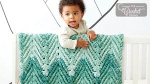 Crochet Ridged Baby Blanket