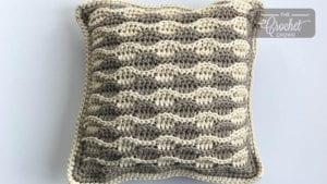 Crochet Sandbar Textured Pillow