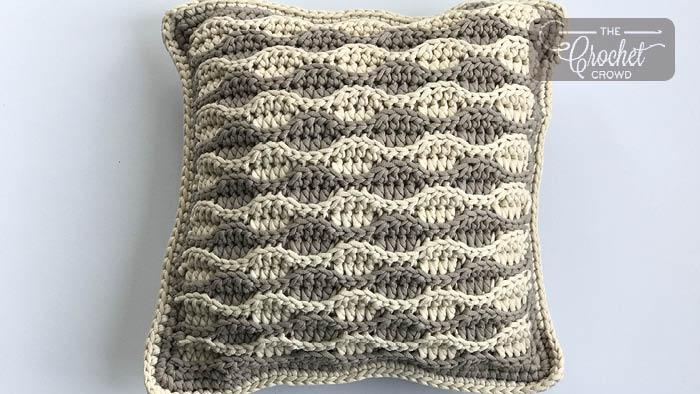 Crochet Sandbar Textured Pillow Pattern