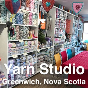 Mikey's Yarn Studio in Greenwich, Nova Scotia