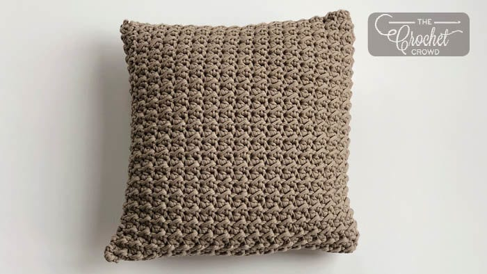 Crochet Easy Textured Pillow