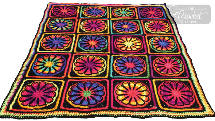 Crochet Flower Power Afghan + Tutorial | The Crochet Crowd