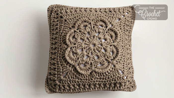 Crochet Textured Flower Pillow Pattern