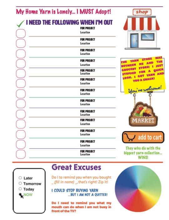 Yarn Shopping List