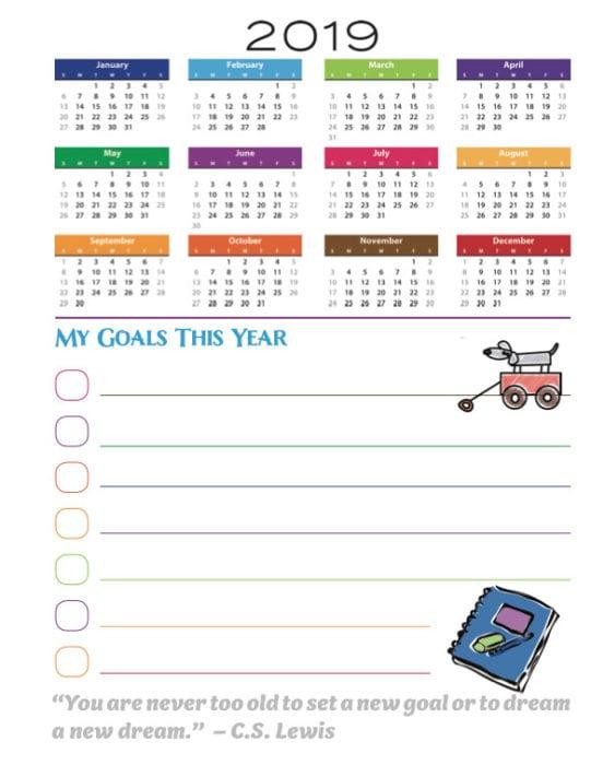Crochet Year Goals List Sheet