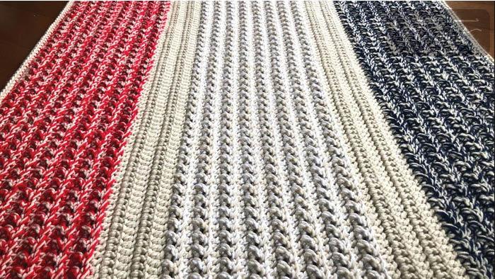 Crochet Patriotic Comfort Lap Blanket Pattern