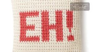 Crochet Canadian EH! Pillow