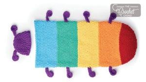 Crochet Caterpillar Snuggle Sack