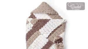 Crochet Envelope Snuggle Sack