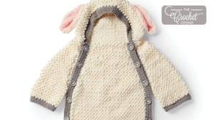 Crochet Yawn The Sheep Snuggle Sack