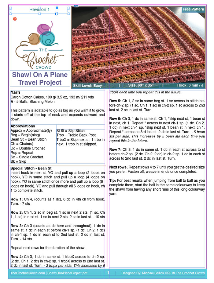 Crochet Patterns with Adobe InDesign