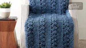 Bernat Clusters Panel Crochet Blanket