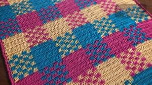 Crochet Cabbie Cuddler Baby Blanket