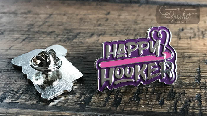 Happy Hooker Pins by The Crochet Crowd