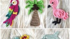 Tropical Crochet Appliques by Nella's Cottage