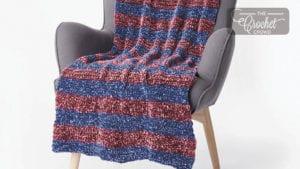 Bernat Striped Velvet Blanket