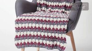 Bernat Velvet Larksfoot Blanket