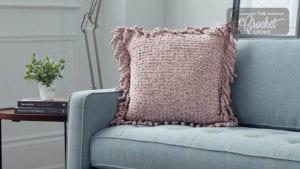 Knit Wicker Stitch Pillow