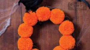 Craft Pom Pom Halloween Wreath