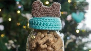 Crochet Dog Treat Jar Topper