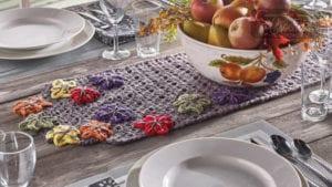 Crochet Fall Table Runner