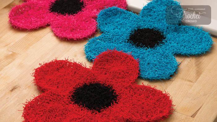 Crochet Fancy Flowers Scrubby Dishcloth