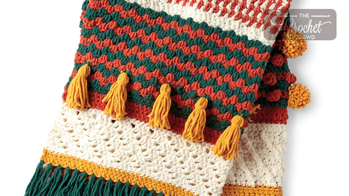 Crochet Festive Texture Afghan + Tutorial | The Crochet Crowd