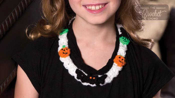 Crochet Halloween Motif Necklace