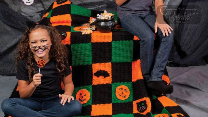 Crochet Halloween Throw