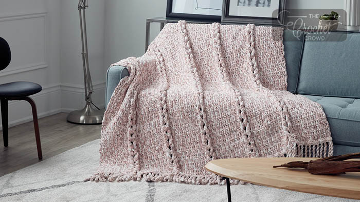 Twisting Braid Crochet Blanket