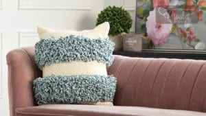 Crochet Loopy Stripes Pillow