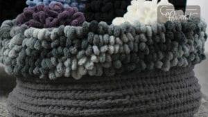 Crochet Loopy Stitch Basket