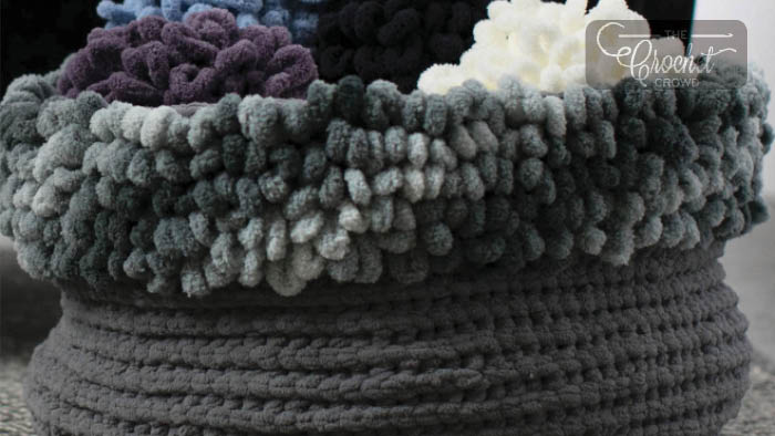Loopy Edge Crochet Basket Pattern