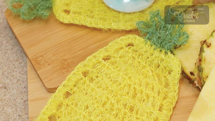 Crochet Pineapple Scrubby Dishcloth Pattern
